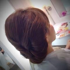 ヘアアレンジ 卵型 和装 丸顔 ヘアスタイルや髪型の写真・画像