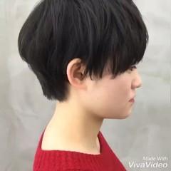 マッシュショート ショート ショートボブ マッシュMIX ヘアスタイルや髪型の写真・画像