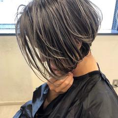 バレイヤージュ ハイライト 外国人風カラー グレージュ ヘアスタイルや髪型の写真・画像