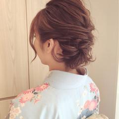 ヘアアレンジ ミディアム アップスタイル 大人女子 ヘアスタイルや髪型の写真・画像