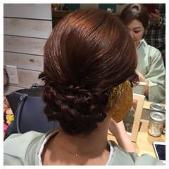 アップスタイル 編み込み ねじり 着物 ヘアスタイルや髪型の写真・画像