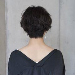 ナチュラル ショート 謝恩会 似合わせ ヘアスタイルや髪型の写真・画像