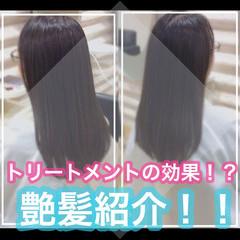 セミロング 髪質改善カラー 大人ロング ナチュラル ヘアスタイルや髪型の写真・画像