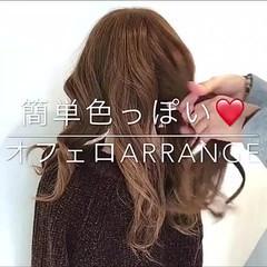ヘアアレンジ デート オフィス 簡単ヘアアレンジ ヘアスタイルや髪型の写真・画像