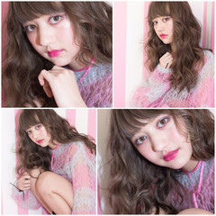フェミニン 外国人風 暗髪 ガーリー ヘアスタイルや髪型の写真・画像