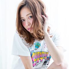 艶髪 ガーリー フェミニン ミディアム ヘアスタイルや髪型の写真・画像
