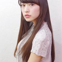 暗髪 グラデーションカラー ピュア ガーリー ヘアスタイルや髪型の写真・画像