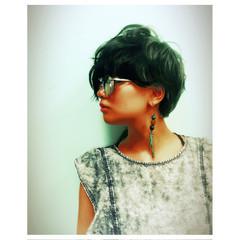 グラデーションカラー 暗髪 モード ボブ ヘアスタイルや髪型の写真・画像