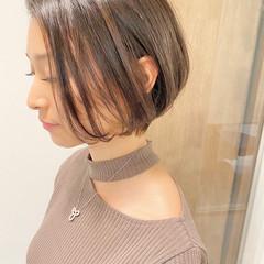 ショートボブ ナチュラル ベリーショート ショート ヘアスタイルや髪型の写真・画像