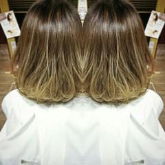 渋谷系 グラデーションカラー ミディアム 外国人風 ヘアスタイルや髪型の写真・画像