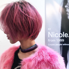 かっこいい イルミナカラー モード ハイトーン ヘアスタイルや髪型の写真・画像