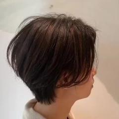 ナチュラル 3Dハイライト オフィス ボブ ヘアスタイルや髪型の写真・画像