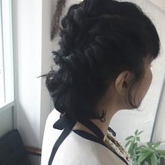 ボブ くるりんぱ 結婚式 ヘアアレンジ ヘアスタイルや髪型の写真・画像
