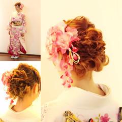 パーティ 簡単ヘアアレンジ ヘアアレンジ 大人かわいい ヘアスタイルや髪型の写真・画像