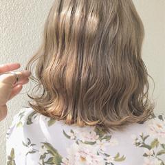 アッシュ ボブ ナチュラル ミルクティー ヘアスタイルや髪型の写真・画像