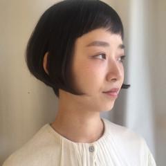 ボブ 刈り上げ 黒髪 大人女子 ヘアスタイルや髪型の写真・画像