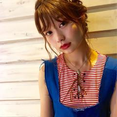 簡単ヘアアレンジ ヘアアレンジ ミディアム ショート ヘアスタイルや髪型の写真・画像