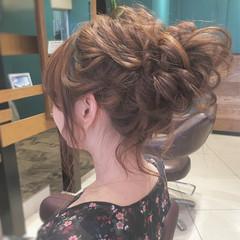 ヘアアレンジ ナチュラル ゆるふわ シニヨン ヘアスタイルや髪型の写真・画像