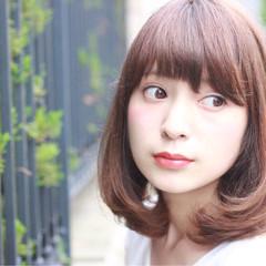 アッシュ フェミニン ミディアム 大人かわいい ヘアスタイルや髪型の写真・画像
