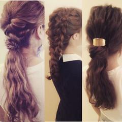 三つ編み アッシュ ヘアアレンジ 簡単ヘアアレンジ ヘアスタイルや髪型の写真・画像