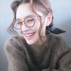 外国人風 ラフ セミロング ヘアアレンジ ヘアスタイルや髪型の写真・画像