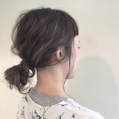 ヘアアレンジ ナチュラル 外国人風 ハイライト ヘアスタイルや髪型の写真・画像