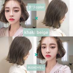 韓国ヘア 簡単ヘアアレンジ 外国人風カラー 韓国 ヘアスタイルや髪型の写真・画像
