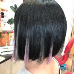 ボブ エクステ 色気 ハイライト ヘアスタイルや髪型の写真・画像