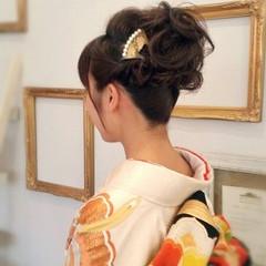 結婚式 着物 ヘアアクセ ヘアアレンジ ヘアスタイルや髪型の写真・画像