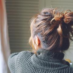 簡単ヘアアレンジ モテ髪 セミロング モード ヘアスタイルや髪型の写真・画像