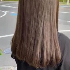 大人かわいい ロング ベージュ ミルクティーベージュ ヘアスタイルや髪型の写真・画像