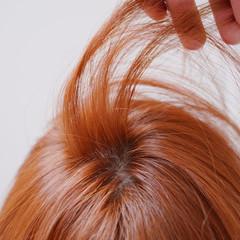 オレンジブラウン オレンジベージュ オレンジカラー アプリコットオレンジ ヘアスタイルや髪型の写真・画像