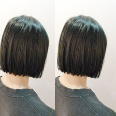 黒髪 切りっぱなし ナチュラル 色気 ヘアスタイルや髪型の写真・画像