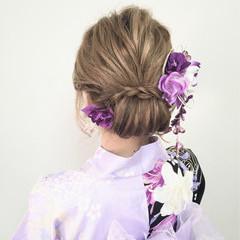 大人かわいい 夏 ミディアム ギブソンタック ヘアスタイルや髪型の写真・画像