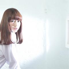 ゆるふわ 大人かわいい セミロング ガーリー ヘアスタイルや髪型の写真・画像