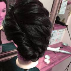 成人式 大人かわいい まとめ髪 編み込み ヘアスタイルや髪型の写真・画像