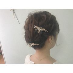 簡単ヘアアレンジ ヘアアレンジ 結婚式 成人式 ヘアスタイルや髪型の写真・画像