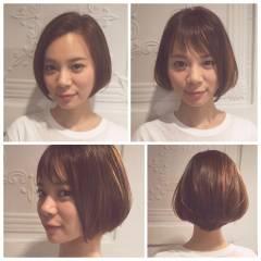 ストリート ボブ ダブルバング ヘアスタイルや髪型の写真・画像