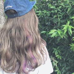 ストリート ハイライト バレイヤージュ パステルカラー ヘアスタイルや髪型の写真・画像