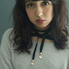 ガーリー 黒髪 フェミニン 冬 ヘアスタイルや髪型の写真・画像
