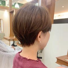 ハンサムショート ナチュラル ショートヘア ショートマッシュ ヘアスタイルや髪型の写真・画像