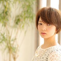 ショート コンサバ 似合わせ 前髪あり ヘアスタイルや髪型の写真・画像