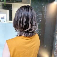 大人ハイライト バレイヤージュ ボブ 3Dハイライト ヘアスタイルや髪型の写真・画像