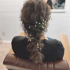 結婚式 ナチュラル 外ハネ セミロング ヘアスタイルや髪型の写真・画像