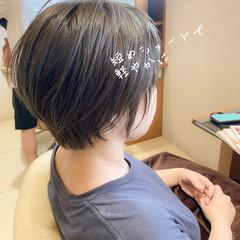 ショート ハンサムショート 小顔ヘア マッシュショート ヘアスタイルや髪型の写真・画像