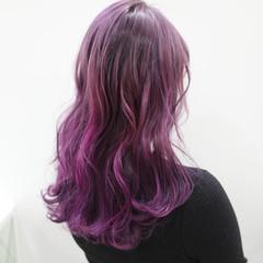 ラベンダーピンク ピンクアッシュ カラーバター ガーリー ヘアスタイルや髪型の写真・画像