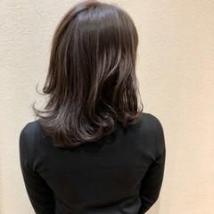 ミディアム イルミナカラー 透明感 透明感カラー ヘアスタイルや髪型の写真・画像
