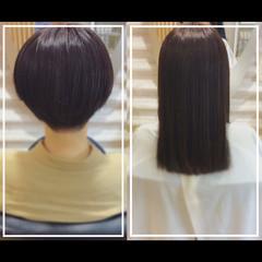 髪質改善トリートメント 黒髪 髪質改善 白髪染め ヘアスタイルや髪型の写真・画像
