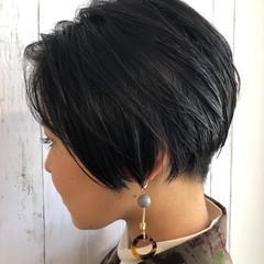 黒髪 ショート 刈り上げ 簡単 ヘアスタイルや髪型の写真・画像