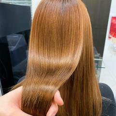 髪質改善カラー ストレート ナチュラル 髪質改善トリートメント ヘアスタイルや髪型の写真・画像